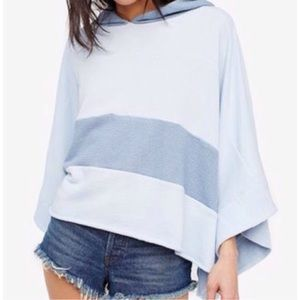 Free People Blue Poncho NWT Size XS/S